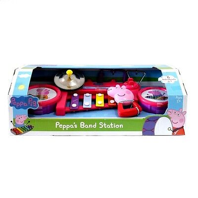 New Peppa Pig Peppa's Band Station Musical Toy Play Xylophone Drum Instrument