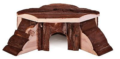 Thordis Corner House Natural Wood with 2 Ramps Gerbils Mice Hamsters