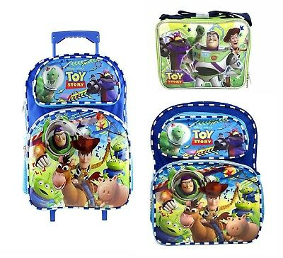 "Disney Toy Story Lunch Bag, 16"" Large School Book Backpack or Rolling Bag (1pc)"