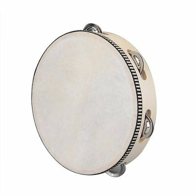 "8"" Musical Tambourine Drum Round Percussion Gift for KTV Party LW"
