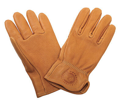 Genuine Indian Motorcycle Men's Deerskin Gloves Tan. Super Soft!