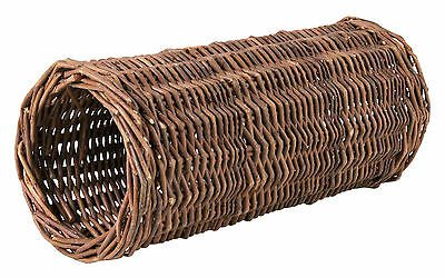 Natural Wicker Hideaway Tube Toy for Guinea Pigs Rats & Degus 33cm