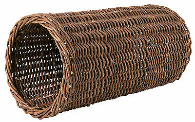 Natural Wicker Hideaway Tube Toy Tunnel Cave for Chinchillas & Rabbits 38cm 15""