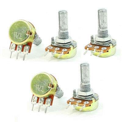 B10K 10K Ohm Adjustment Single Linear Rotary Potentiometer 5 Pcs LW