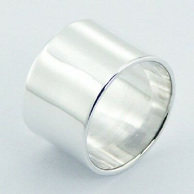 Handcrafted Silver ring 925 sterling Cylinder  6us 7us 8us 9us 10us  14mm width