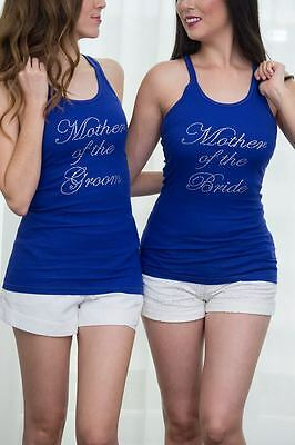 Bride Tank Shirt top Bridesmaids Brides Entourage Bachelorette white Pink & more
