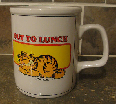 Vintage 1978 Jim Davis Garfield Out to Lunch Coffee Mug Cup Enesco