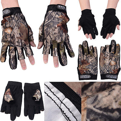 1 PAIR Mens Adult Thermal Fingerless Gloves Cotton Shooting Fishing Combie