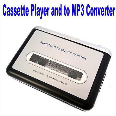 USB CASSETTE AUDIO TAPE CONVERTER TO iPOD MP3 CD PLAYER AND PORTABLE WALKMAN