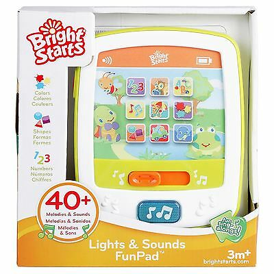 Bright Starts Lights & Sounds FunPad - Baby Toddler Learning Fun Toy - Brand New