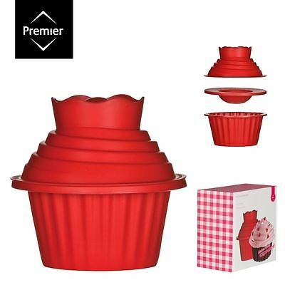 3pc Giant Cupcake Set Non-Stick Silicone / Muffin Mould Bake Cake Party Baking