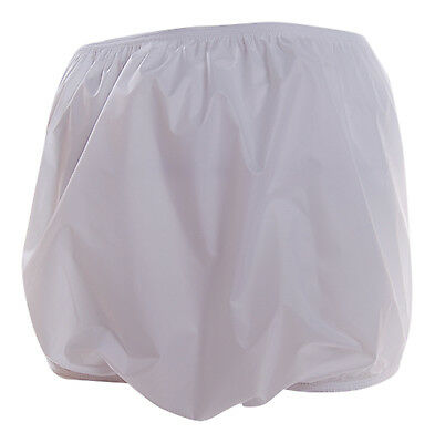 Ladies Incontinence Waterproof Briefs Pants Knickers White 100% PVC 100% UK Made