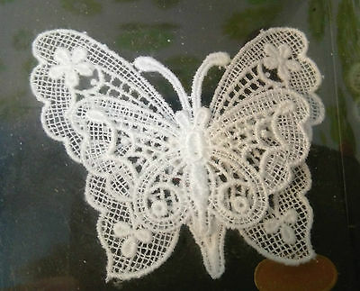 Collectable Beautiful Boxed Vintage Swiss Lace Butterfly (b36)