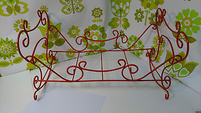 Gorgeous Vintage Red Doll's Cot (b40)