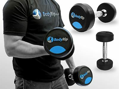 BodyRip Fixed Weights Weight Strength Lifting Dumbbell Gym Set 2.5kg-30kg