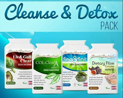 Cleanse and Detox Pack Supplements for Colon Liver Gallbladder Flush + Repair SS