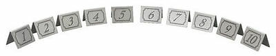 Stainless Steel Table Numbers -Restaurant Bar Cafe 1-60
