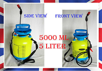 5 litre WATER PRESSURE SPRAYER GARDEN - PLANT SPRAY BOTTLE - WEEDKILLER