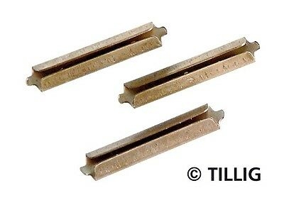 Tillig Bahn 85501 - 25 x TT Scale Weathered Elite Track Fishplates - 1st Class P