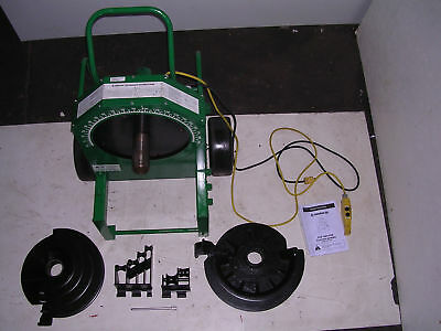 """Greenlee 555 Conduit Pipe Bender 2 RIDGID PVC Shoes 2 Rollers 1/2"""" to 2"""" IMC EMT"""