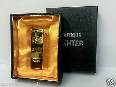 Gold Lighters Refillable Cigarette Lighter Nugget Windproof Jet Torch Flame Gas