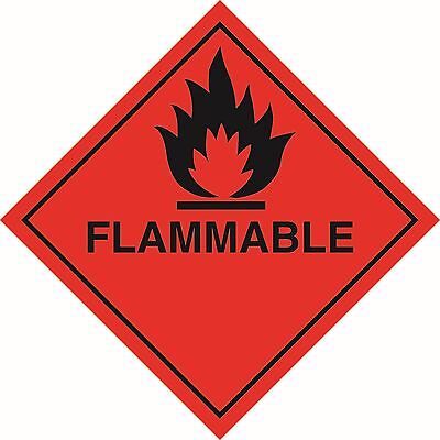 Health and Safety Hazard Sticker Flamable Sticker Red