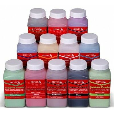 Reeves Tempera Powder Paint 500g Tubs Assorted Colours CLEARANCE