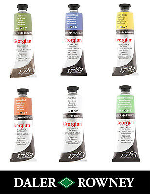 Daler Rowney Georgian Art Oil Paint 75ml Tube All Colours Available - Page 2/2