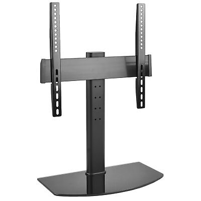 """Universal LCD Flat Screen TV Table Top Stand w/ Glass Base / for 32"""" to 47"""" T.V."""