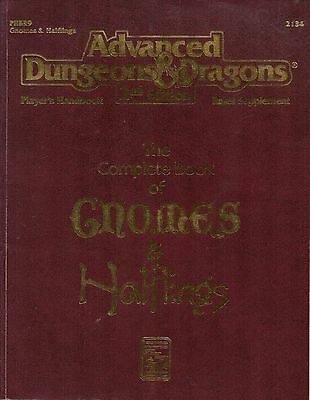 Advanced-Dungeons & Dragons-2nd Edition-GNOMES & HALFLINGS-(SC)-engl.-Rarität