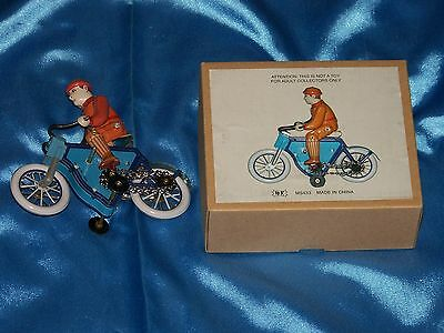"TIN MAN ON BICYCLE: 4"" X 5"" , Schylling, For Adult Collectors Only, New/ Unused"