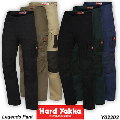 2 x Hard Yakka Legends Work Pant ALL SIZES & COLOURS Y02202
