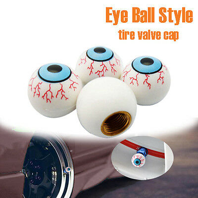New Car Truck Bike Unique EYE BALL Wheel Tire Tyre Air Dust Stem Valve Cap Cover