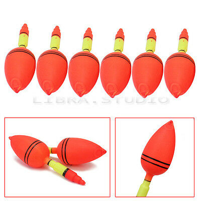 6x Angler Fishing Floats Bobbers Slip Drift Tube Indicator Fish Accessories Tool