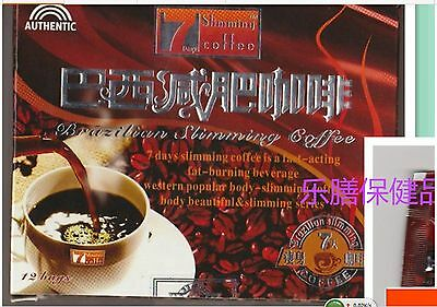 Fast Sip 6 Boxes Authentic Slimming Coffee Brazilian 7 Days Quick Weight Loss