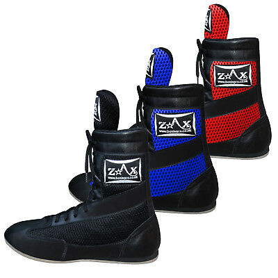 ZstarAX Leather Boxing Boots Shoes Long Anklet Mesh Boots JUNIORS & ADULTS