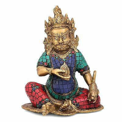Kuber Statue Hindu God Lord Idol Indian Handicrafts Kubera Kuvera