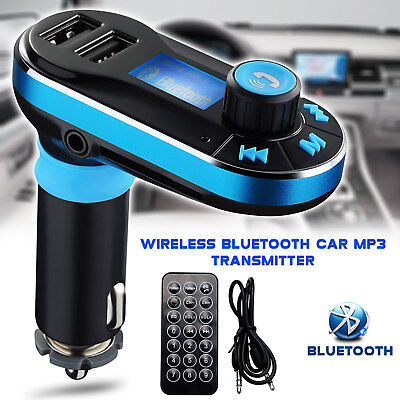 Wireless Bluetooth FM transmitter MP3 Player Car Kit Dual USB Charger Handsfree