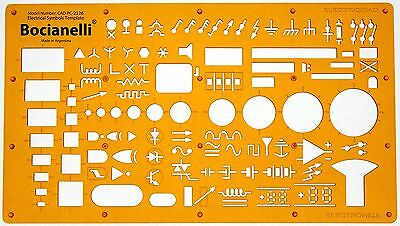 Electrical Services Installation Wiring Plan Symbols Drawing Template Stencil