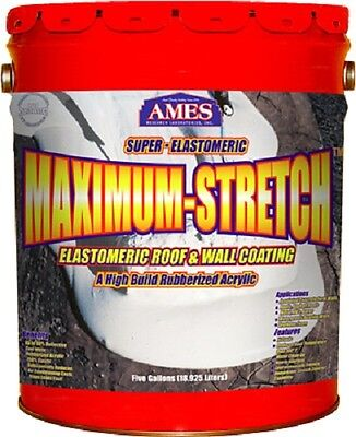 Ames MSS5 5 Gallon White Super Elastomeric Rubberized Roof & Wall Coating