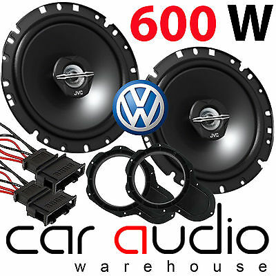"VW Passat B7 2008-14 17cm 6.5"" JVC 600 Watts Front Door Car Speakers & Brackets"