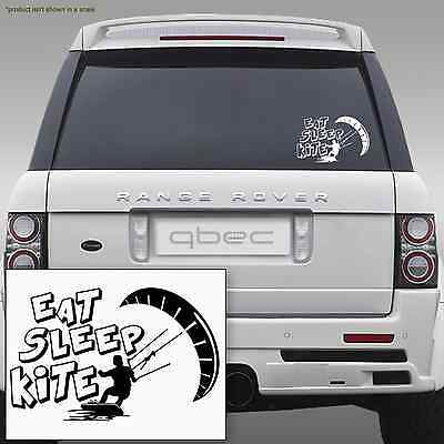 EAT SLEEP KITESURFING - car/van notebook laptop tablet board sticker
