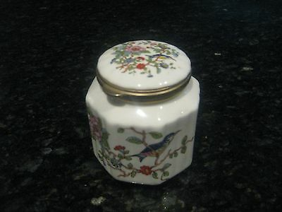 """aynsley Pembroke"" Rare Small Octagon Ginger Jar/trinket With Hinged Lid"