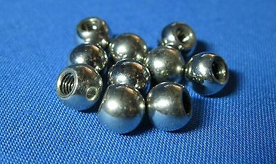 (Pack of 10) Stop Motion Armature 8mm Threaded Steel Balls, 4mm threaded hole