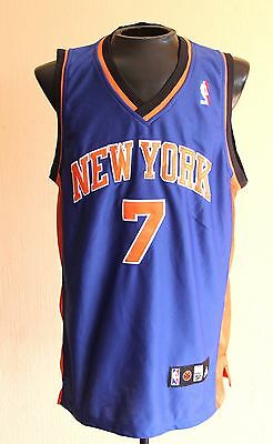 282708b7f CARMELO ANTHONY Adidas NEW YORK KNICKS Blue SWINGMAN Sewn Jersey - Men Sz 50
