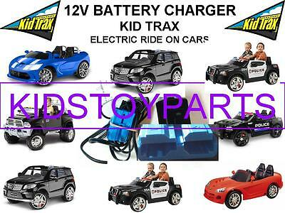 12 Volt Battery Charger / KID TRAX RACING CARS Ride On Toys w/ Blue Connector