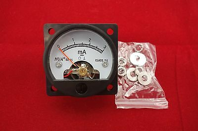 1PC DC 0-3MA Analog Ammeter Panel AMP Current Meter SO45 directly Connect