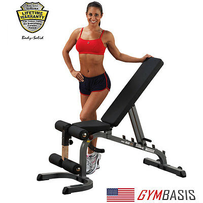 2017 NEW Body Solid GFID31 FLAT INCLINE DECLINE WEIGHT BENCH