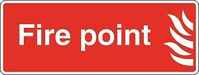 Health and Safety Fire Sticker Fire Point Sticker red