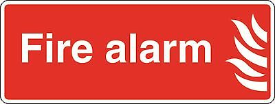Health and Safety Fire Sticker Fire Alarm Sticker Red